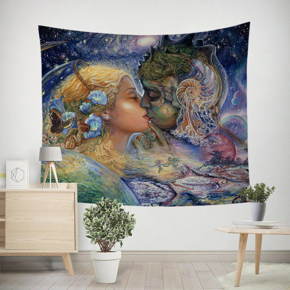 Cosmic Kiss Tapestry-Josephine Wall-Little Squiffy