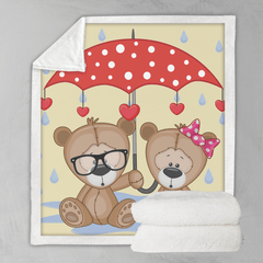 Umbrella Animals - Teddy Bears Blanket-Umbrella Animals - Teddy Bears-Little Squiffy