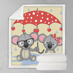 Umbrella Animals - Koalas Blanket-Umbrella Animals - Koalas-Little Squiffy