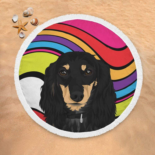 Custom Pet Portrait Lightweight Beach Towel-Custom Pet Portrait-Little Squiffy