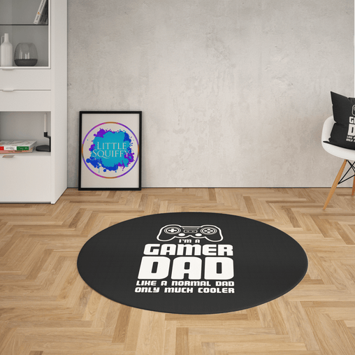 Dad Gamer Round Mat-Dad Gamer-Little Squiffy