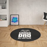 Dad Gamer Round Mat