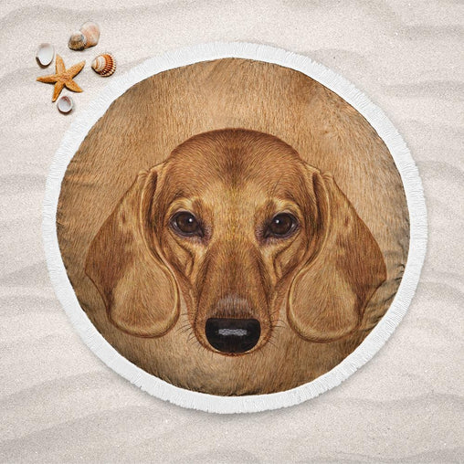 Dachshund Lightweight Beach Towel-Dachshund-Little Squiffy