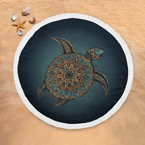 Deep Sea Turtle Lightweight Beach Towel-Deep Sea Turtle-Little Squiffy