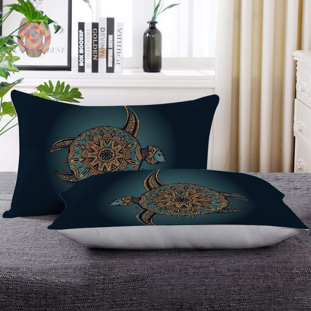 Deep Sea Turtle Pillow Cases-Deep Sea Turtle-Little Squiffy