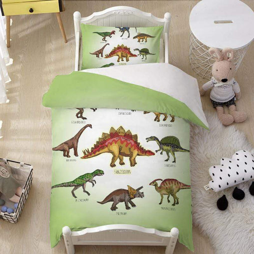 Cartoon Dinosaur's Quilt Cover Set-Little Squiffy
