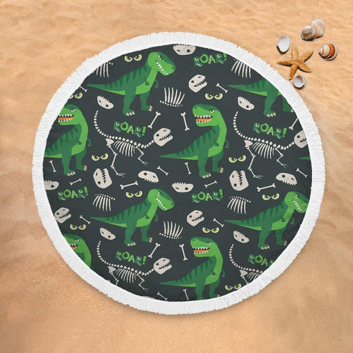 Dinosaur Roar Lightweight Beach Towel-Dinosaur Roar-Little Squiffy