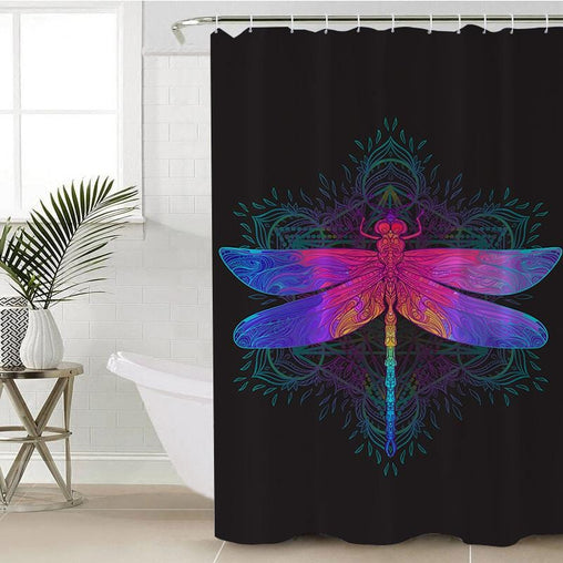 Dragonfly Shower Curtain-Dragonfly-Little Squiffy