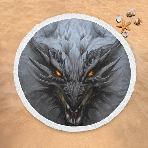 Fantasy Dragon Lightweight Beach Towel-Fantasy Dragon-Little Squiffy