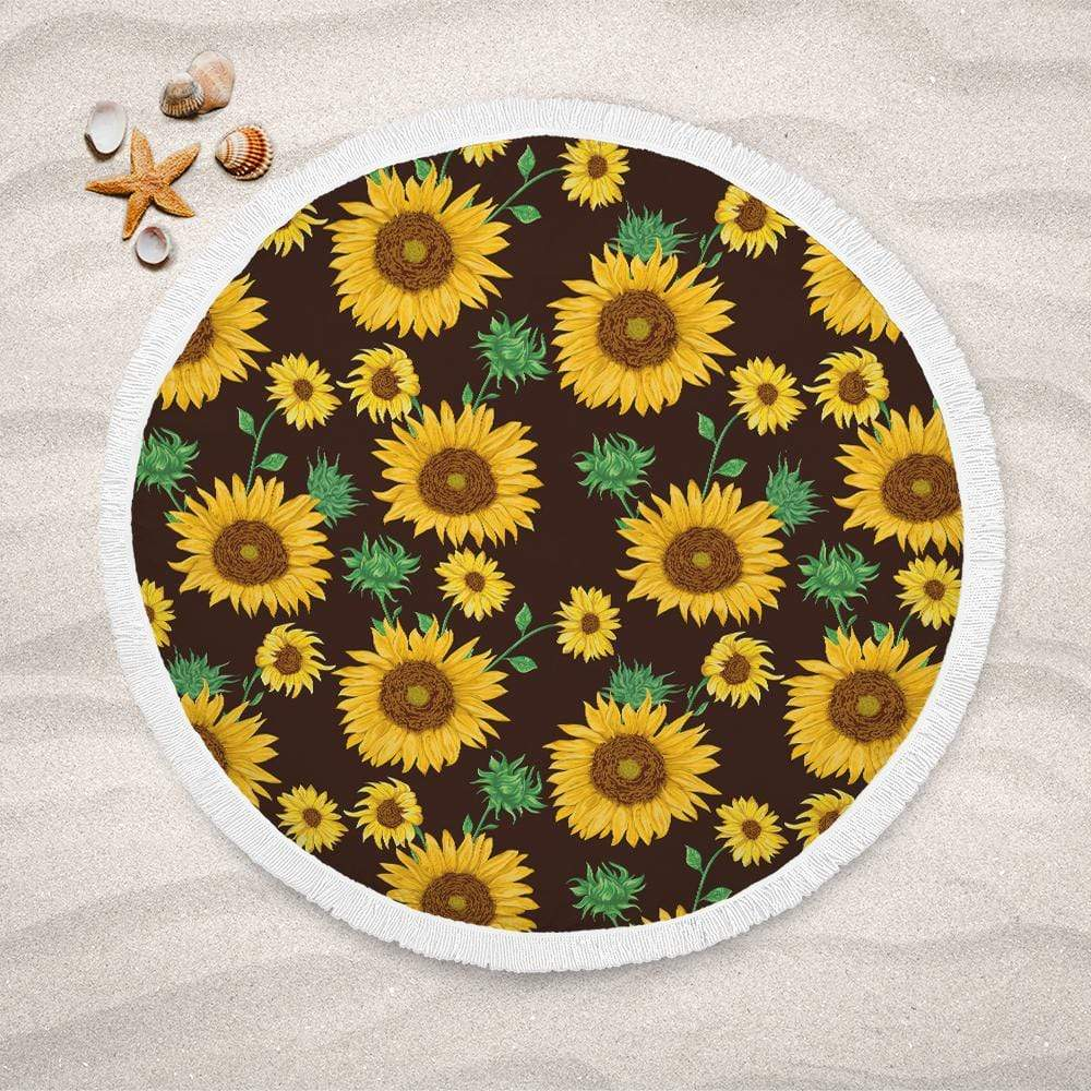 Farmhouse Sunflower Lightweight Beach Towel-Farmhouse Sunflower-Little Squiffy