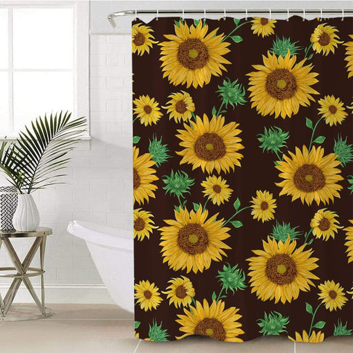 Farmhouse Sunflower Shower Curtain-Farmhouse Sunflower-Little Squiffy