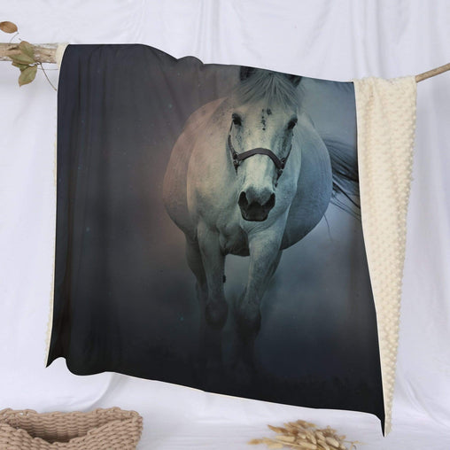 Horse Whisperer Deluxe Minky Blanket-Bubble Minky-Little Squiffy
