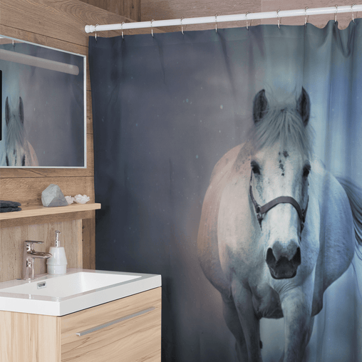 Horse Whisperer Shower Curtain-Horse Whisperer-Little Squiffy