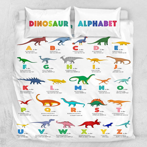 ABC Dinosaur's Quilt Cover Set-Little Squiffy