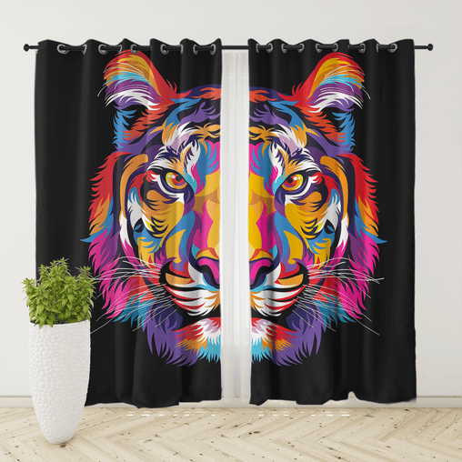 Bright Tiger Curtain Set-Bright Tiger-Little Squiffy