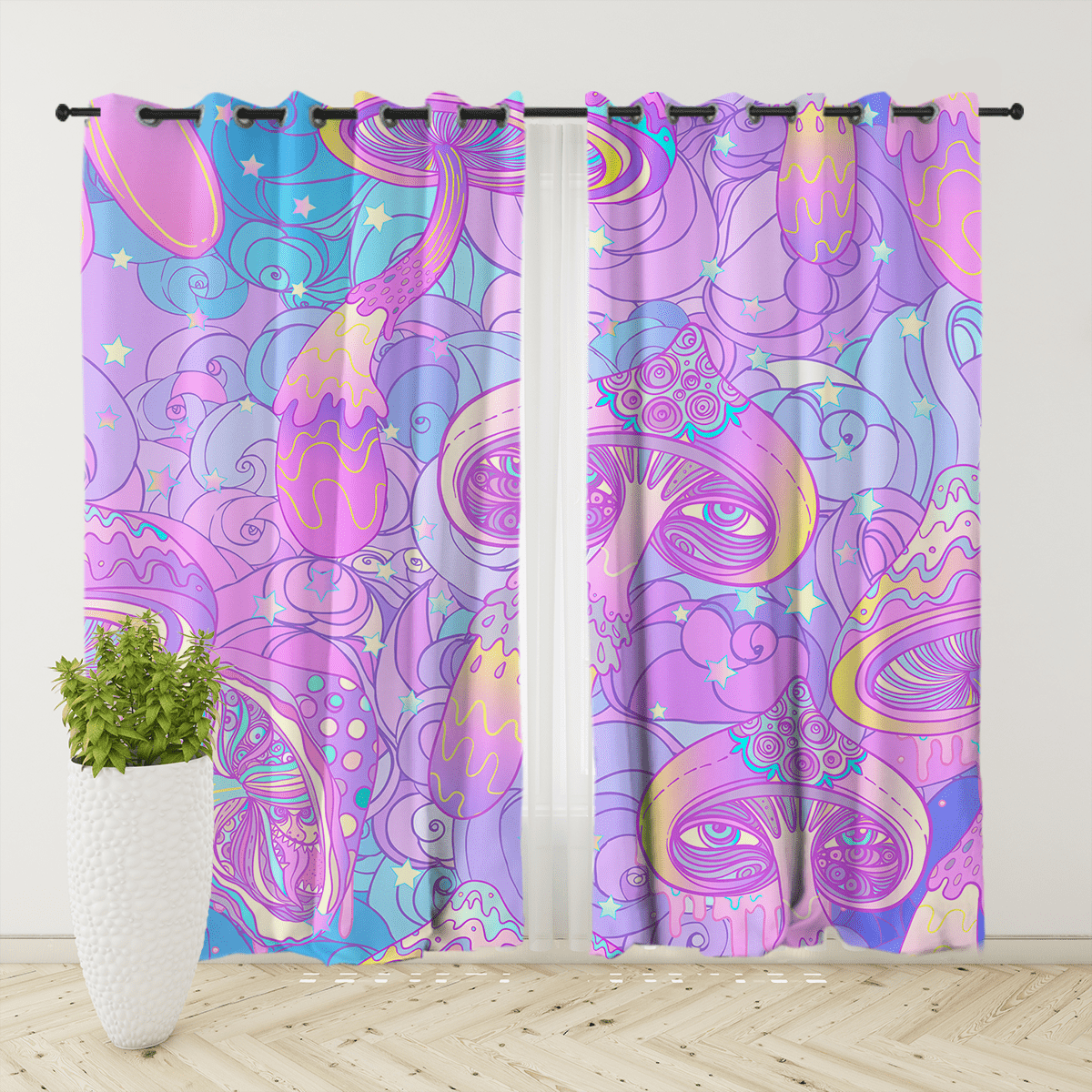 Magic Mushroom Curtain Set-Magic Mushroom-Little Squiffy