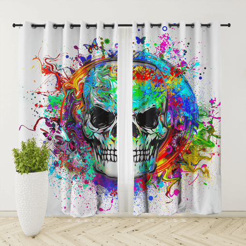 Skull Of Eternity Curtain Set-Skull Of Eternity-Little Squiffy