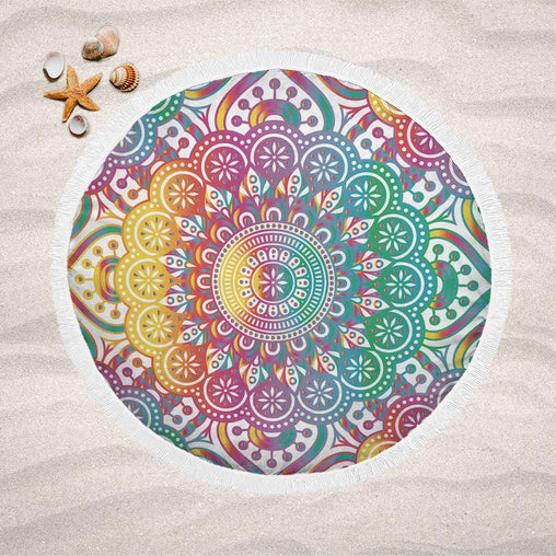 Madness Mandala Lightweight Beach Towel-Madness Mandala-Little Squiffy