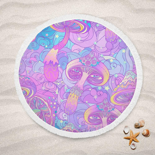 Magic Mushroom Lightweight Beach Towel-Magic Mushroom-Little Squiffy