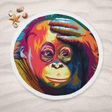 Melancholy Orangutan Lightweight Beach Towel