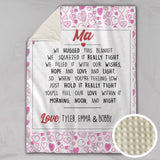 We Hugged This Personalised Deluxe Minky Blanket - Heart
