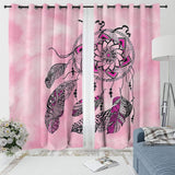 Namaste Dreamcatcher Pink Curtain Set