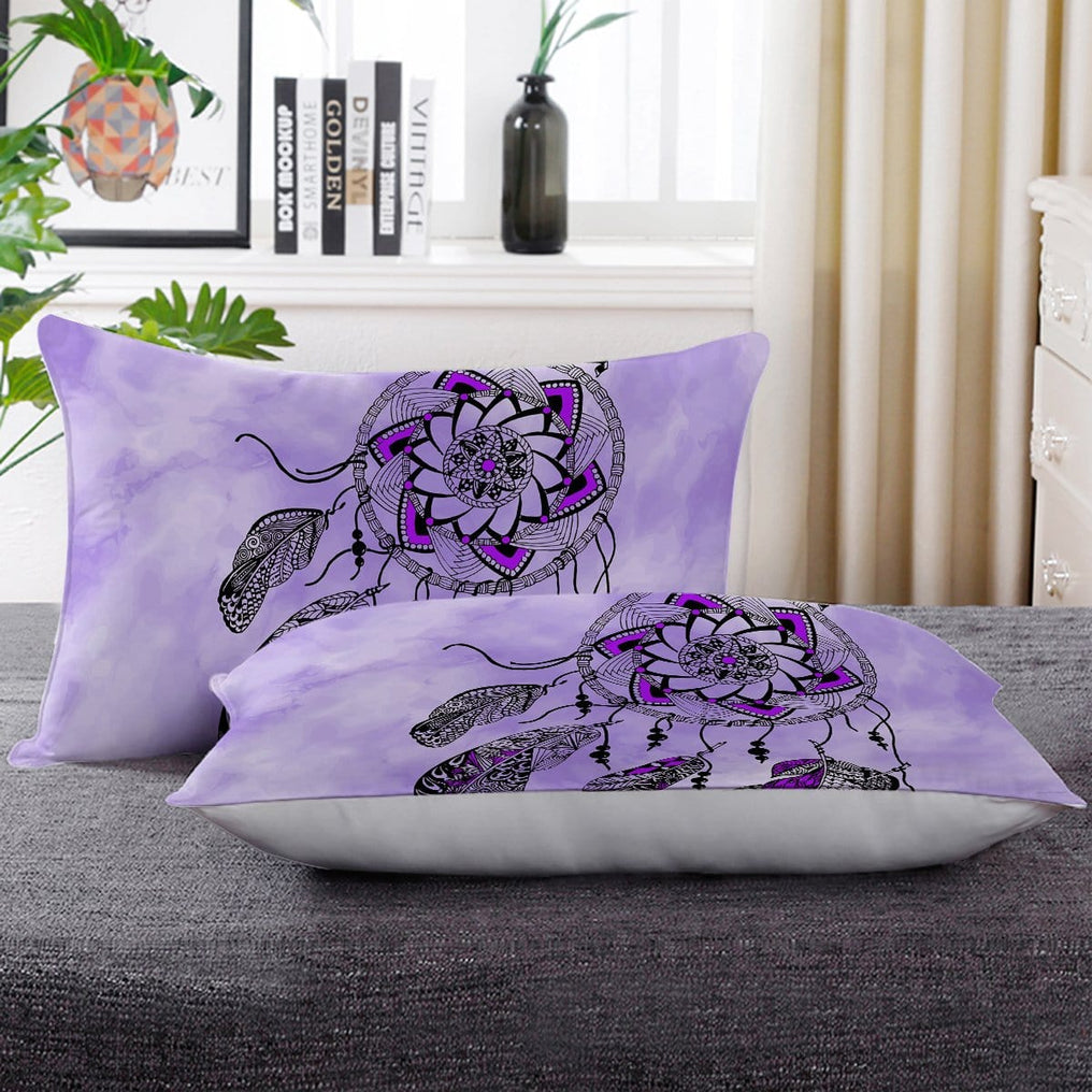 Namaste Dreamcatcher Purple Pillow Cases-Namaste Dreamcatcher Purple-Little Squiffy