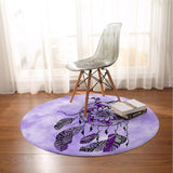 Namaste Dreamcatcher Purple Round Mat