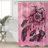 Namaste Dreamcatcher Pink Shower Curtain