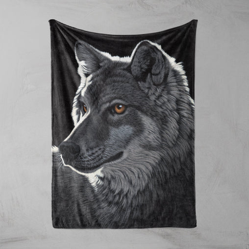 Night Wolf Squiffy Minky Blanket-Schim Schimmel-Little Squiffy