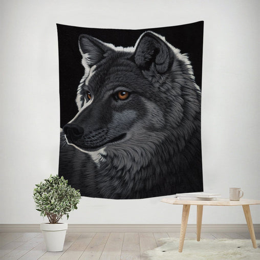 Night Wolf Tapestry-Schim Schimmel-Little Squiffy