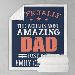 World's Most Amazing Dad Personalised Blanket-Personalised-Little Squiffy