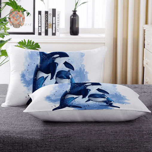 Orcas Of The Sea Pillow Cases-Orcas Of The Sea-Little Squiffy