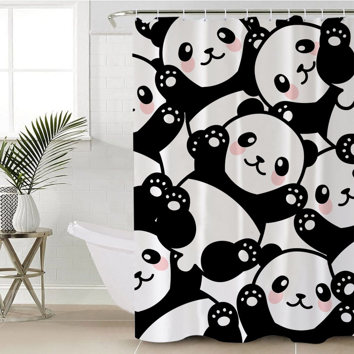 Pandalicious Shower Curtain-Pandalicious-Little Squiffy
