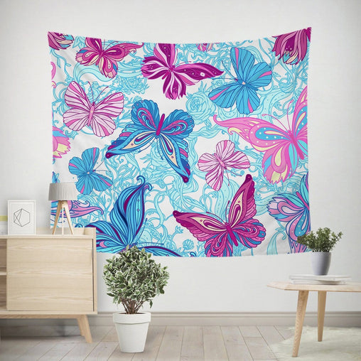 Pastel Butterflies Tapestry-Pastel Butterflies-Little Squiffy