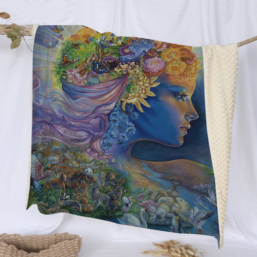 Presence Of Gaia Deluxe Minky Blanket-Josephine Wall-Little Squiffy