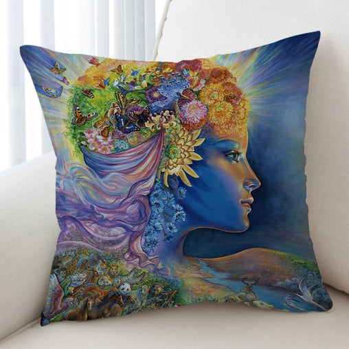 Presence Of Gaia Cushion Cover-Josephine Wall-Little Squiffy