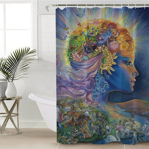 Presence Of Gaia Shower Curtain-Josephine Wall-Little Squiffy