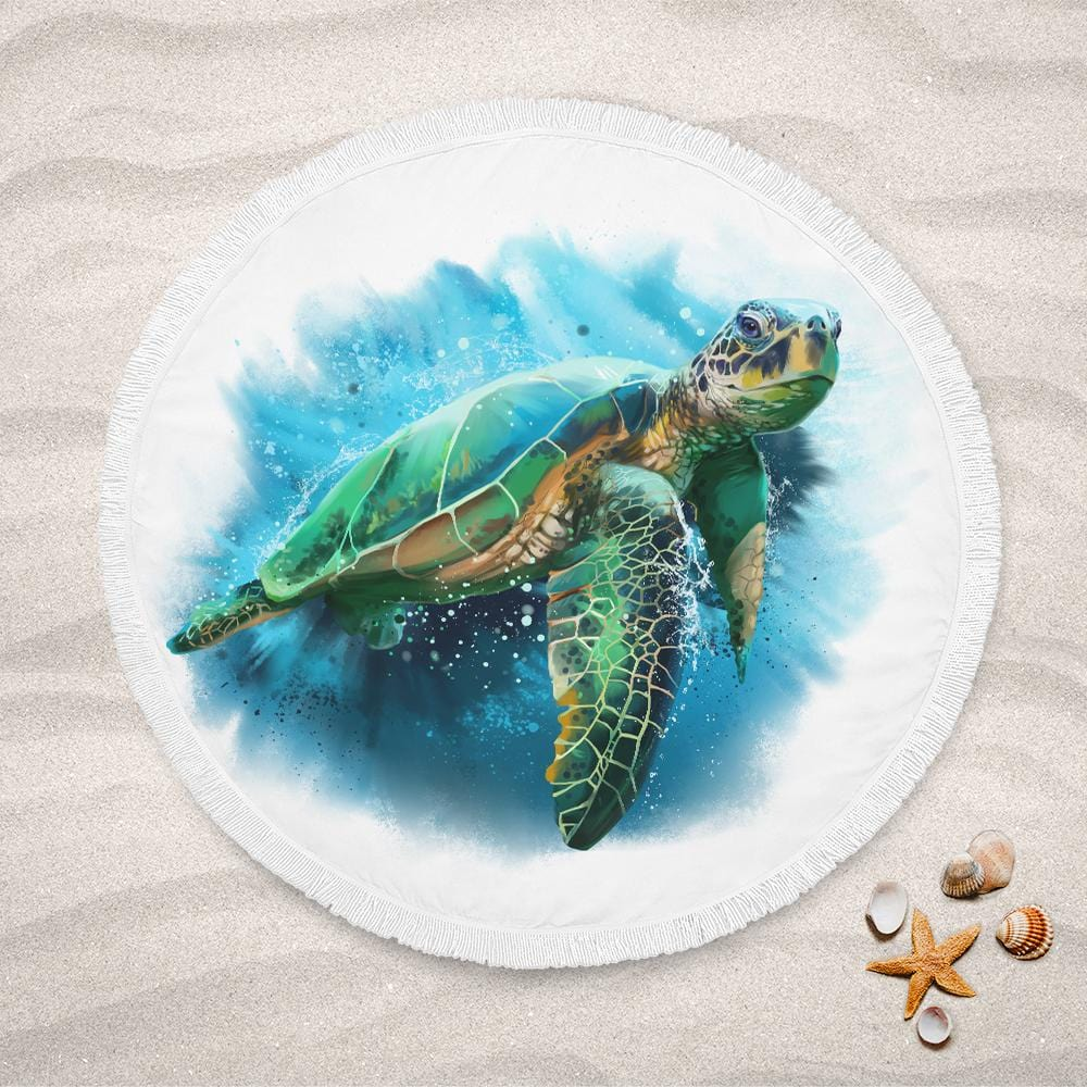 Queen Of Turtles Lightweight Beach Towel-Queen Of Turtles-Little Squiffy