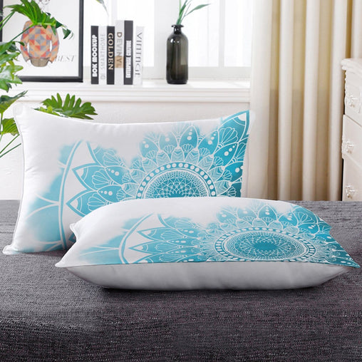 Caribbean Blue Mandala Pillow Cases-Little Squiffy
