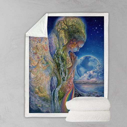Sadness Of Gaia Blanket-Josephine Wall-Little Squiffy