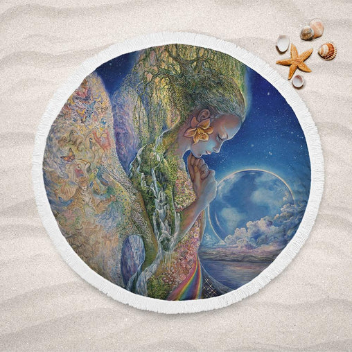 Sadness Of Gaia Lightweight Beach Towel-Josephine Wall-Little Squiffy
