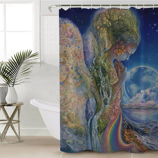 Sadness Of Gaia Shower Curtain-Josephine Wall-Little Squiffy