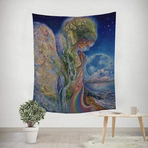 Sadness Of Gaia Tapestry-Josephine Wall-Little Squiffy