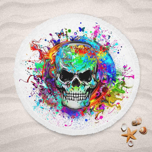 Skull Of Eternity Lightweight Beach Towel-Skull Of Eternity-Little Squiffy