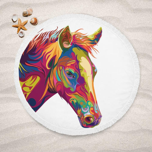 Spiritual Horse Lightweight Beach Towel-Spiritual Horse-Little Squiffy