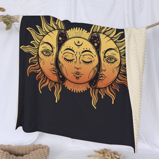 Sun And Moon Deluxe Minky Blanket-Sun And Moon-Little Squiffy