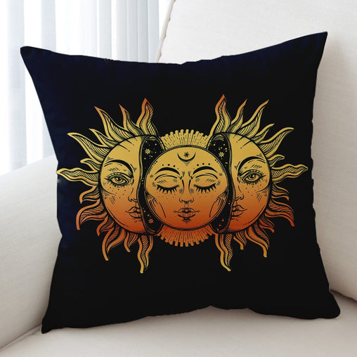 Sun And Moon Cushion Cover-Sun And Moon-Little Squiffy