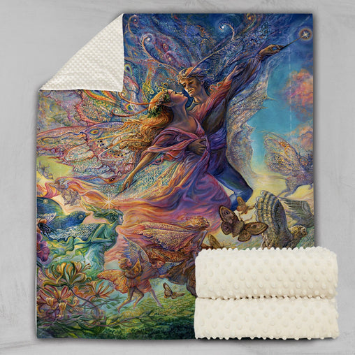 Titania And Oberon Deluxe Minky Blanket-Josephine Wall-Little Squiffy