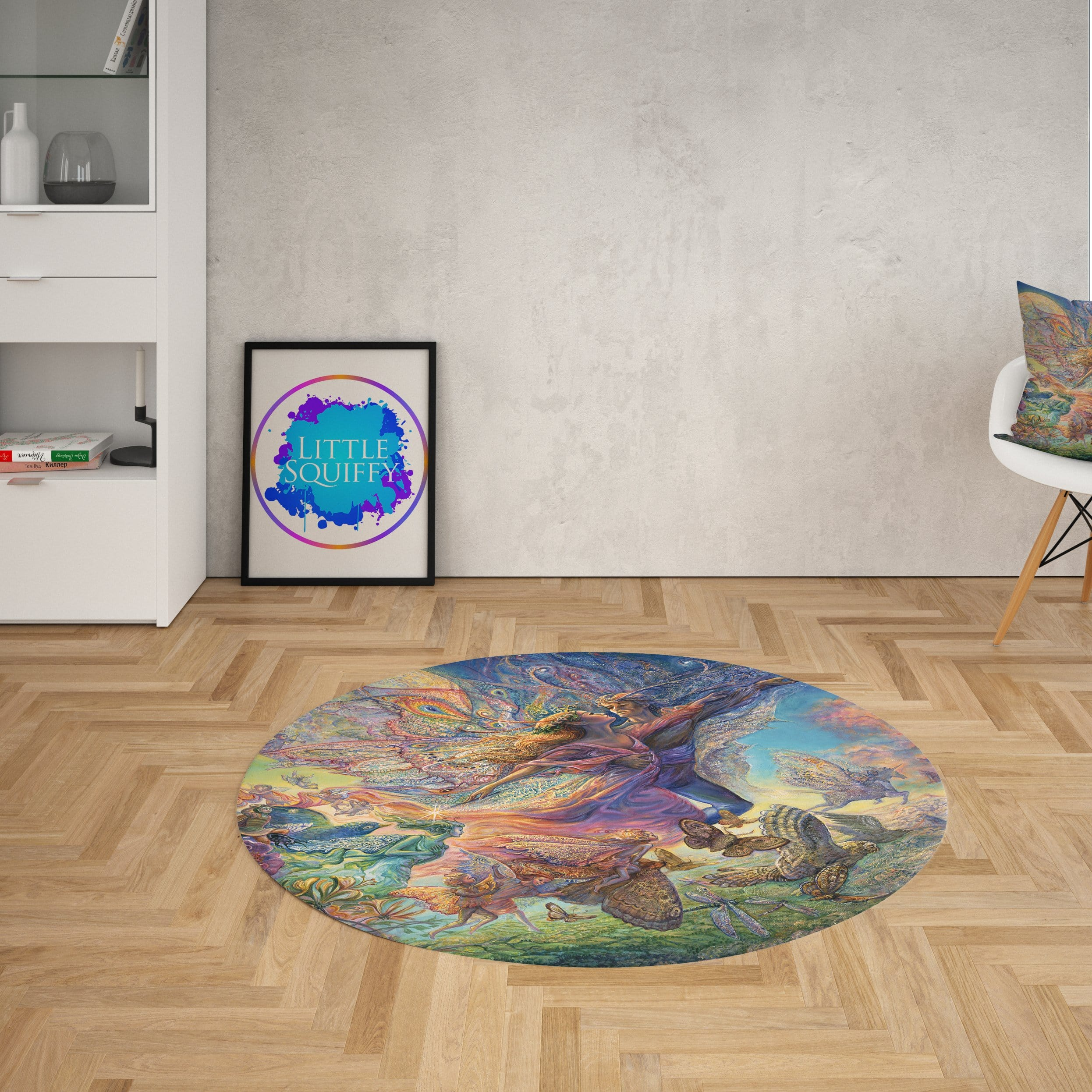 Titania And Oberon Round Mat-Josephine Wall-Little Squiffy